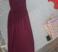 Dugacka lila haljina