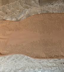 Haljina boje breskve sa printom