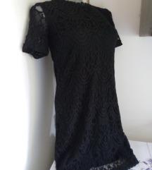 Divided crna ravna cipkana haljina S