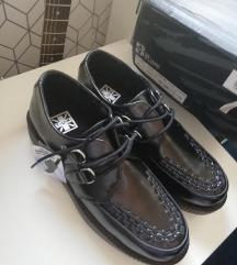 Black Leather TUK Creepers