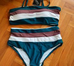 Nov snižen Zaful kupaći kostim dubok struk