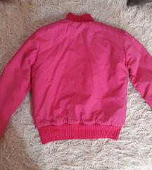 Pink zimska bomber jakna
