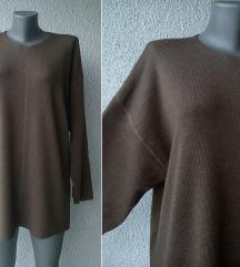 džemper bluza braon vunena br 46 YAZOO