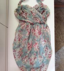 Preklopna cvetna haljina