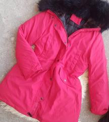 Zimska duza jakna sa krznom vel. XXL - kao nova