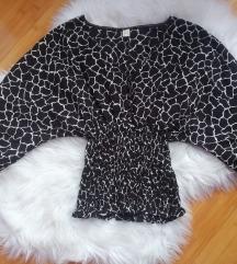 Bluza braon bela
