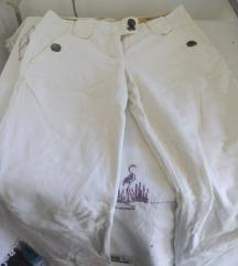 Zinc bele somotske pantalone M