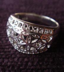 Prsten motiv arabeske srebro 925 NOVO