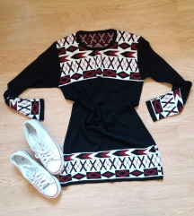 Crna haljina tunika