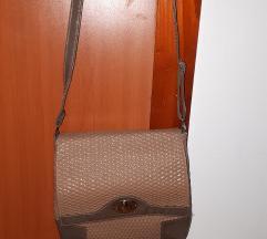 Krem-braon torbica