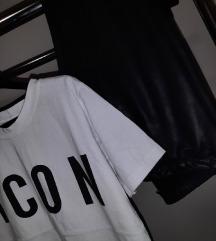 Komplet imitacija koznih helanka i majica