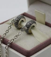 Pandora Pave sigurnosni lanac srebro s925