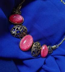 Zlatno - roze ogrlica NOVA