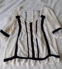 Bluza / kosulja  krem sa crnim detaljima