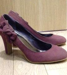 Ljubičaste cipele na štiklu sa mašnom 38