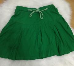 Zelena lepršava suknjica, kao nova