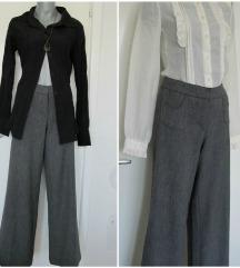 Poslovne, klasicne zvonaste pantalone na crtu L