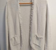 ZARA knit kardigan sa srebrnim nitima