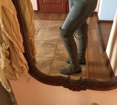 Italjanske cizme iznad kolena koza