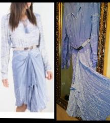 P.S nova plava haljina asimetricnog kroja