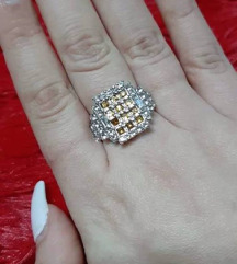 Prsten srebro sa pozlatom