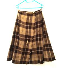 Karirana dugacka suknja
