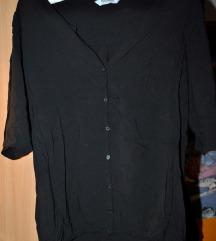 PULL&BEAR Kosulja - Bluza Crna  * KAO NOVA*