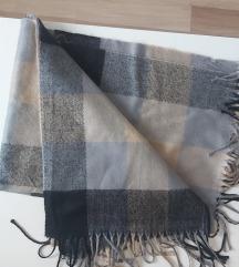 Šal NOV vuna i viskoza SNIZENO 200x67cm