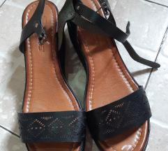 Crne kozne sandale Novo
