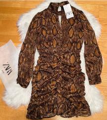 Zara haljina snake printa NOVA sa et.