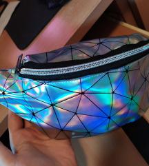 Pederusa - torbica oko struka holograpic
