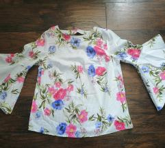 Bluza sa frula rukavima