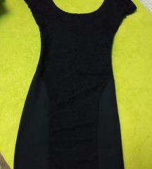 Bershka haljina pamuk i čipka XS S