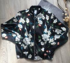 Bomber jakna cvetni print