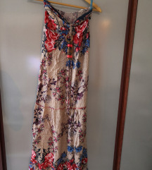 Duga cvetna letnja haljina,novo