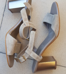 %2.000-Bata kožne sandale, pesak krem