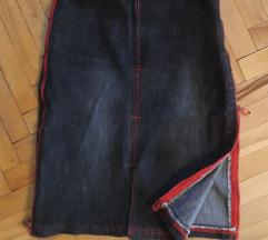 Teksas suknja sa zipovima XS