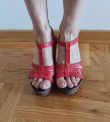 Crvene sandale sa platformom