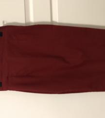 Bordo pencil uska suknja iz Zare
