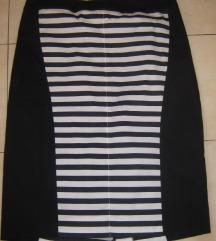 MONA teget bela mornarska suknja 48-NOVA