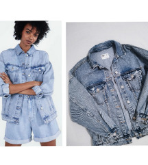 •••BERSHKA denim oversized jakna!•••