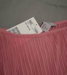 🍓 [NOVO SA ETIKETOM] H&M plisirani rozi top