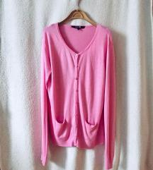 Roze kardigan