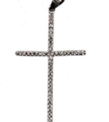 Krst sa cirkonima,privezak,srebro cistoce 925