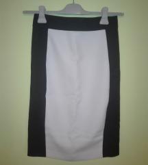 Zara - uska crno-bela suknja