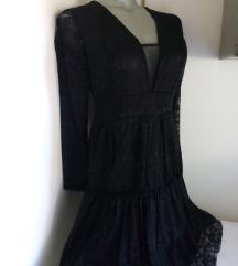 Nova Fashion crna od cipke haljina S/M