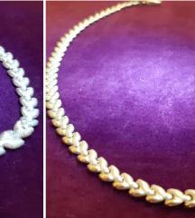 Srebrni komplet ogrlica i narukvica
