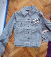 Siva teksas jakna novo S