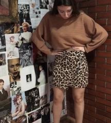 Suknja sa leopard printom