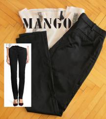 MANGO crne poslovne pantalone